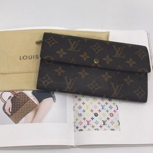 Authentic Louis Vuitton Portefeiulle Long Wallet